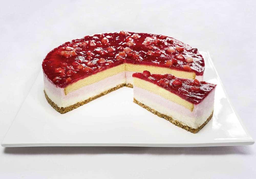 Tk Erdbeer Frischkase Sahne Torte Pfalzgraf Ungeschnitten1900g 28cm