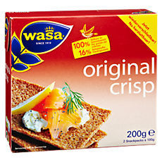 Wasa Original Crisp Backware aus Vollkornroggen 200 g